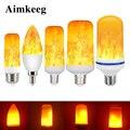 Светодиодный светильник E27, лампа накаливания E14, лампа кукурузы, мерцающий светодиодный светильник, динамический эффект пламени 3 Вт 5 Вт 7 В...