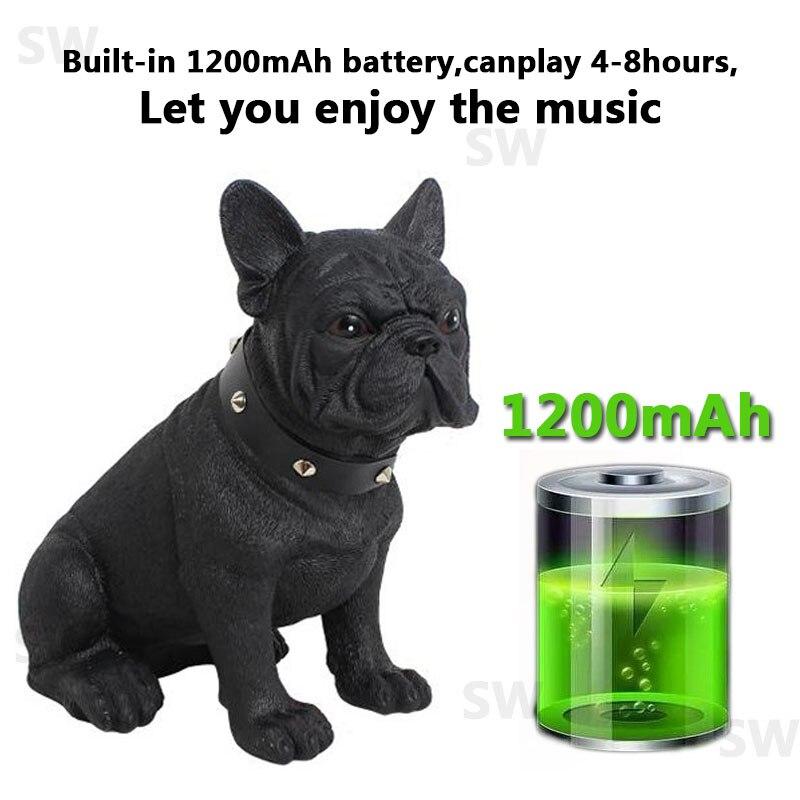 Bulldog Bluetooth Speaker Portable Wireless Subwoofer Column 3D Stereo Super Bass Music Center System For Computer caxia de som