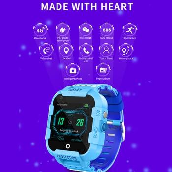 DF39 Kids Smart Watch 4G Sim Card Gps Wifi Lbs Tracker Watch Sos Call 1.4 Inch Camera Children Baby Tracking Clock Gift 5