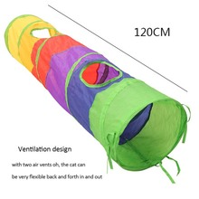 Funny Pet Tunnel Cat Play Rainbow Tunnel Brown Foldable 2 Holes Cat Tunnel Kitten Toy Bulk Toys Rabbit Tunnel Cat Cave howard gershater tunnel tree