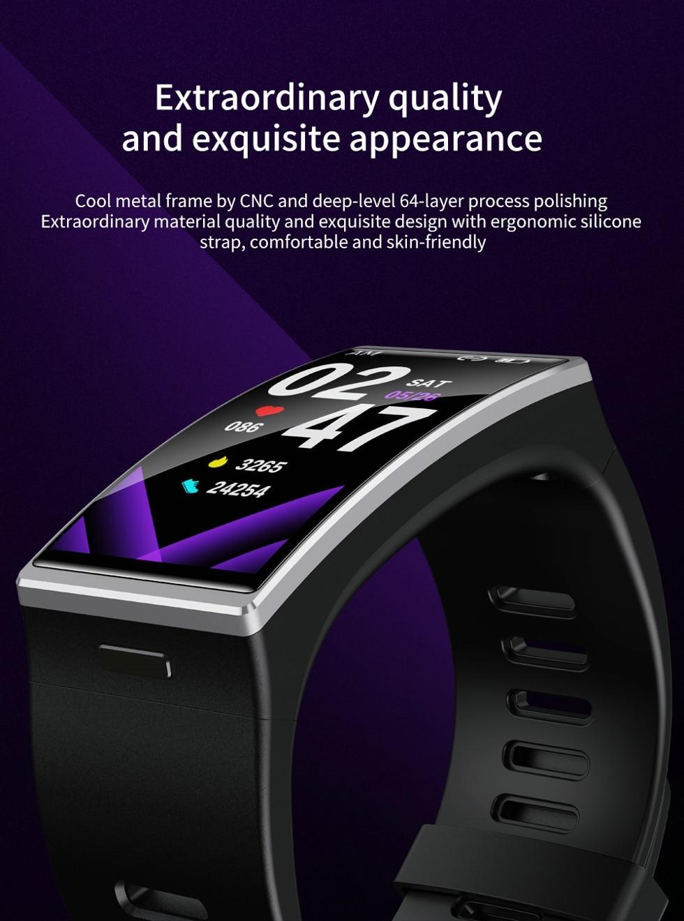 Hea7bf576dc374a7fa97318003eca7e9aZ Smartwatch 2020 1.9 Inch 170*320 Screen LEMFO DM12 Smart Watch Men IP68 Waterproof Sport Heart Rate Blood Pressure Android IOS