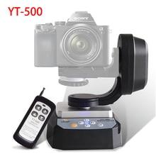 Zifon YT 500 motorizado controle remoto pan tilt com tripé adaptador de montagem para câmera extrema wi fi e smartphone