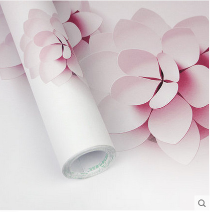 Small Flower Self Adhesive Wallpaper Warm Pastoral Living Room Bedroom TV Backdrop Wall Cabinet Home Decoration Waterproof