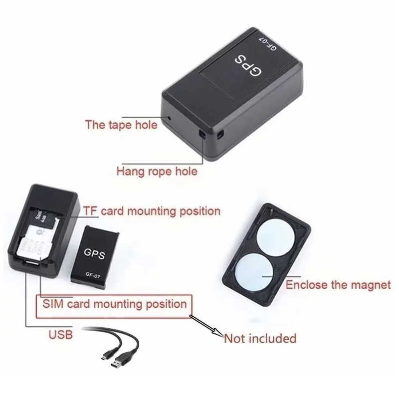 Mini GPS Tracker GPS Locator Anti-Theft Tracker GPS Tracker Anti-Lost การบันทึกติดตามอุปกรณ์ควบคุมเสียง