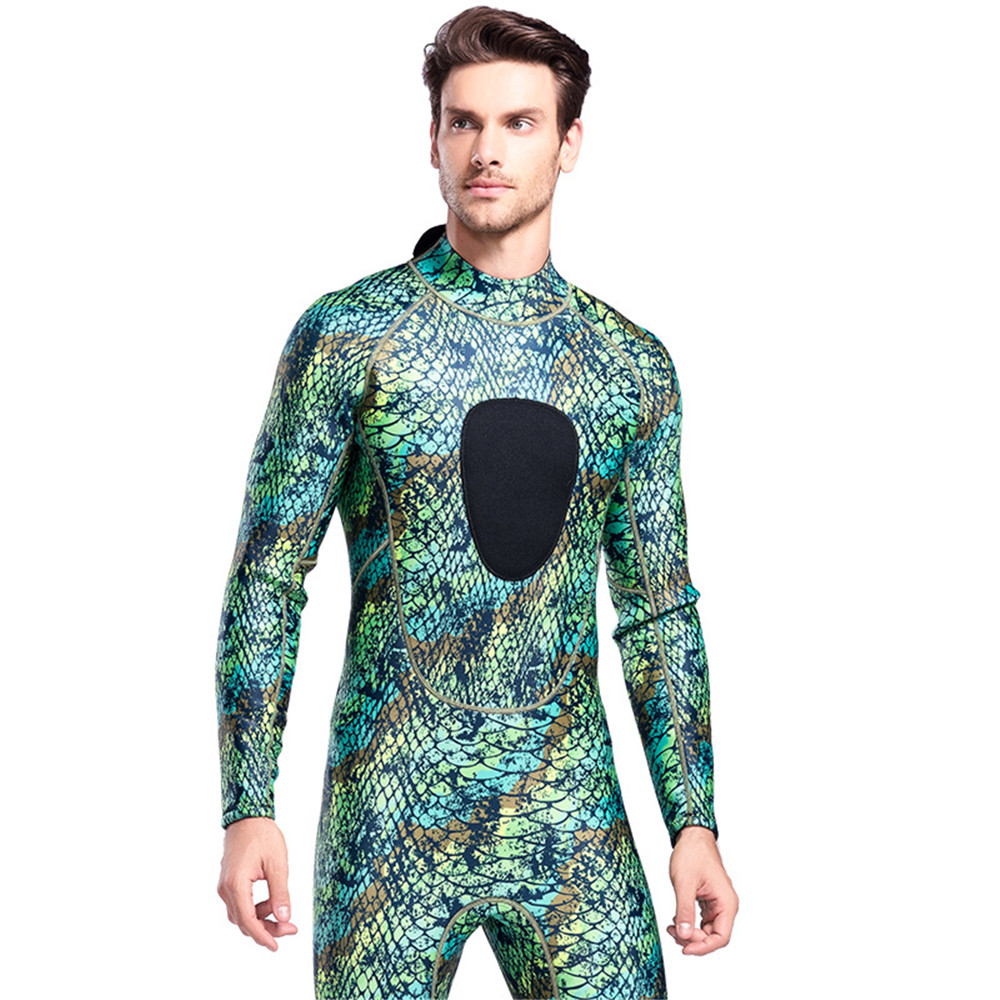 Image 5 - 3MM Super Elastic Neoprene Diving Suit Mens Wetsuits Long Piece 
