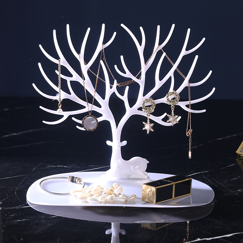 Jewelry Display Deer Earrings Necklace Ring Pendant Bracelet Display Tree Rack Organizer Jewelry Shelf Holder Show Bangle Chain