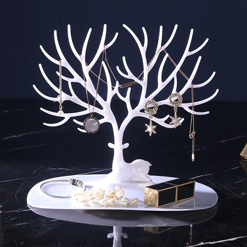 Jewelry Display Deer Earrings Necklace Ring Pendant Bracelet Display Tree Rack Organizer Jewelry Shelf Holder Show Bangle Chain
