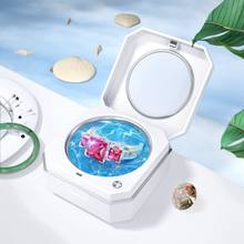 2019 Latest Portable Ultrasonic Cleaner Cleaning Machine for Jewelry Ring Beauty Contact lens home and travel easy carrying box(China)