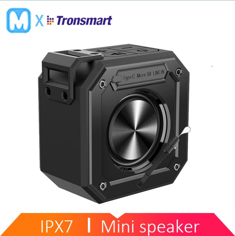 Tronsmart Groove Bluetooth Speaker Column Mini SoundBox Portable Speakers IPX7 Waterproof for Computer With 24-Hour Playtime