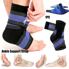 Professional Breathable Ankle Support Adjustable Strap Brace Pain Relief Sports