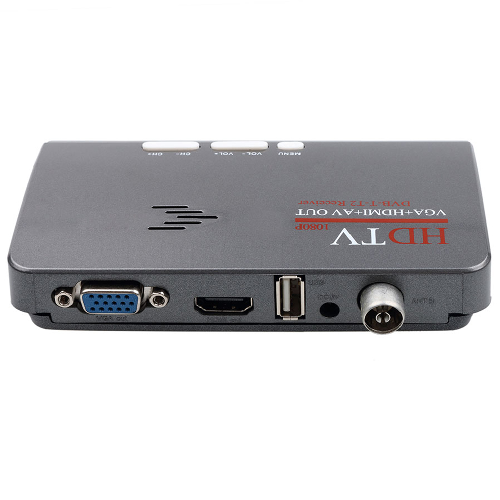 TV Tuner Digital HDMI DVB-T T2 dvbt2 TV Box VGA AV CVBS TV Receiver HD 1080P VGA DVB-T2 TV Box Converter With Remote Control