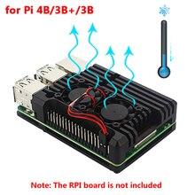 Raspberry Pi 4 Алюминиевый металлический чехол Raspberry Pi 3 Алюминиевый Чехол Коробка с двойным вентилятором теплоотвод для Raspberry Pi 4 3 Модель B 3B Plus