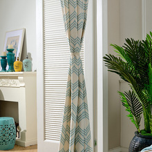 [Hill] Curtain Fabric Modern Simple European-Style Polyester-Cotton Printing Shade Window Screen