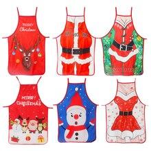 Weihnachten Dekorationen für Haus 1 Pcs Santa Claus Weihnachten Schürze Weihnachten Decor Noel Navidad 2020 Neue Jahr Cristmas Geschenk 50cm * 70cm