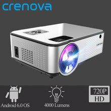 CRENOVA 2019 הכי חדש אנדרואיד מקרן 1280*720 P תמיכת 4 K קטעי וידאו באמצעות HDMI קולנוע ביתי סרט וידאו מקרן