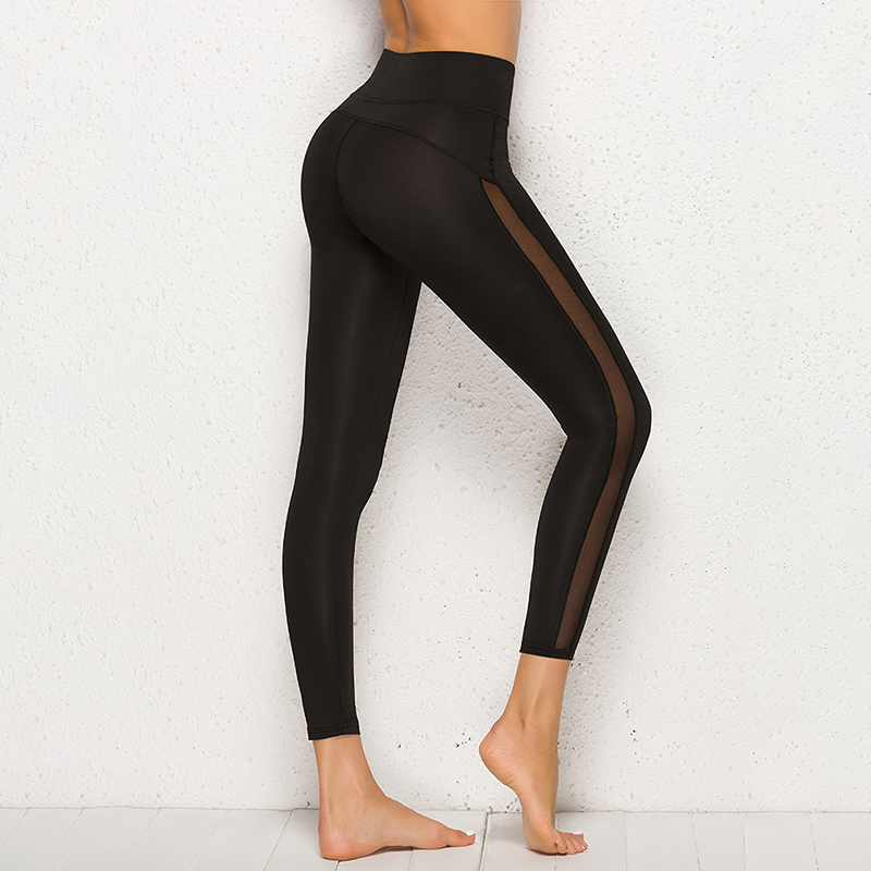 Sexy Women Leggings Gothic Insert Mesh Design Trousers Pants Big Size Black Capris Leggins New Fitness Leggings