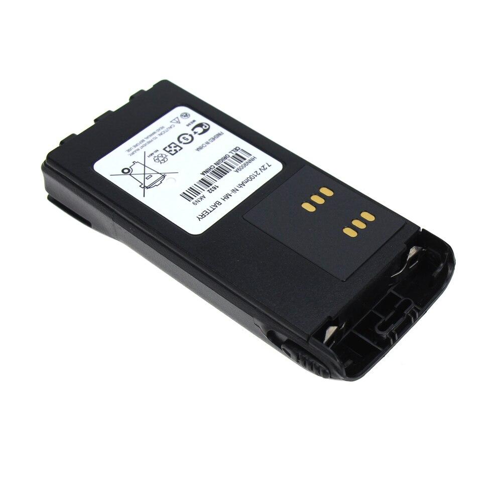 2X2100 mAh NI-MH Batterie De Remplacement pour Motorola Radio GP328 GP338 HNN9008 HNN9008A HNN9008AR HNN9008H HNN9009 HNN9012 + Pince