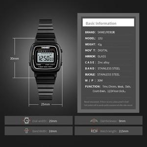 Image 5 - SKMEIแฟชั่นนาฬิกาผู้หญิงแบรนด์หรู 3Barกันน้ำสุภาพสตรีนาฬิกาขนาดเล็กDialนาฬิกาดิจิตอลนาฬิกาRelogio Feminino 1252
