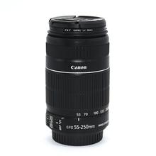 משמש Canon EF S 55 250mm f/4 5.6 הוא II טלה זום עדשה עבור Canon EOS DSLR מצלמות