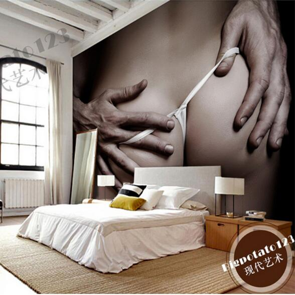 Large Photo Wallpaper 3d Modern Lovely Bedroom Wallpapers For Walls Art Decor Papel Mural 3D Wall Mural Sex Girl Boy Love