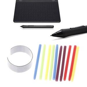 10 шт., графический коврик для рисования, стандартная черная ручка, сменный стилус для Wacom Bamboo Intuos Cintiq, ручка для рисования