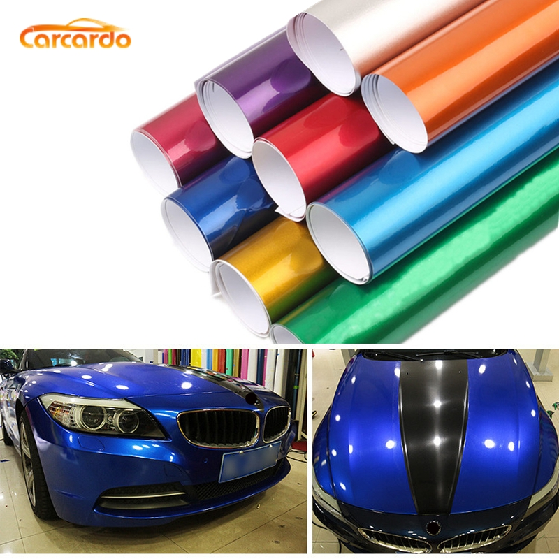 Carcardo glansigt metalliskt bil klistermärke glansigt pärla vinyl film Aurora vinyl wrap auto klistermärke bil varp bil vinyl med luftbubbla