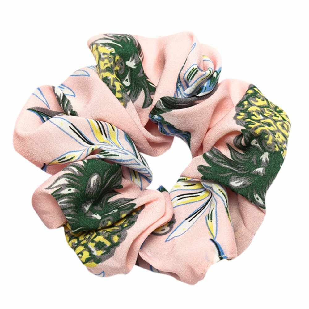 flower elastic headband Lady cross Scrunchie Ring Elastic Pure Color Sports Ponytail Holder hair accessories резинки для волос