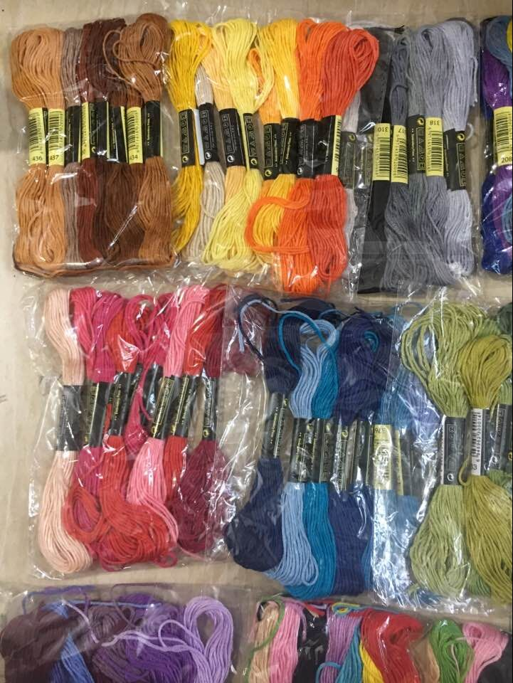oneroom Multicolor 8 Pcs Similar DMC Thread Cross Stitch Cotton Sewing Skeins Embroidery Thread Floss Kit DIY Sewing|Floss| |  - AliExpress