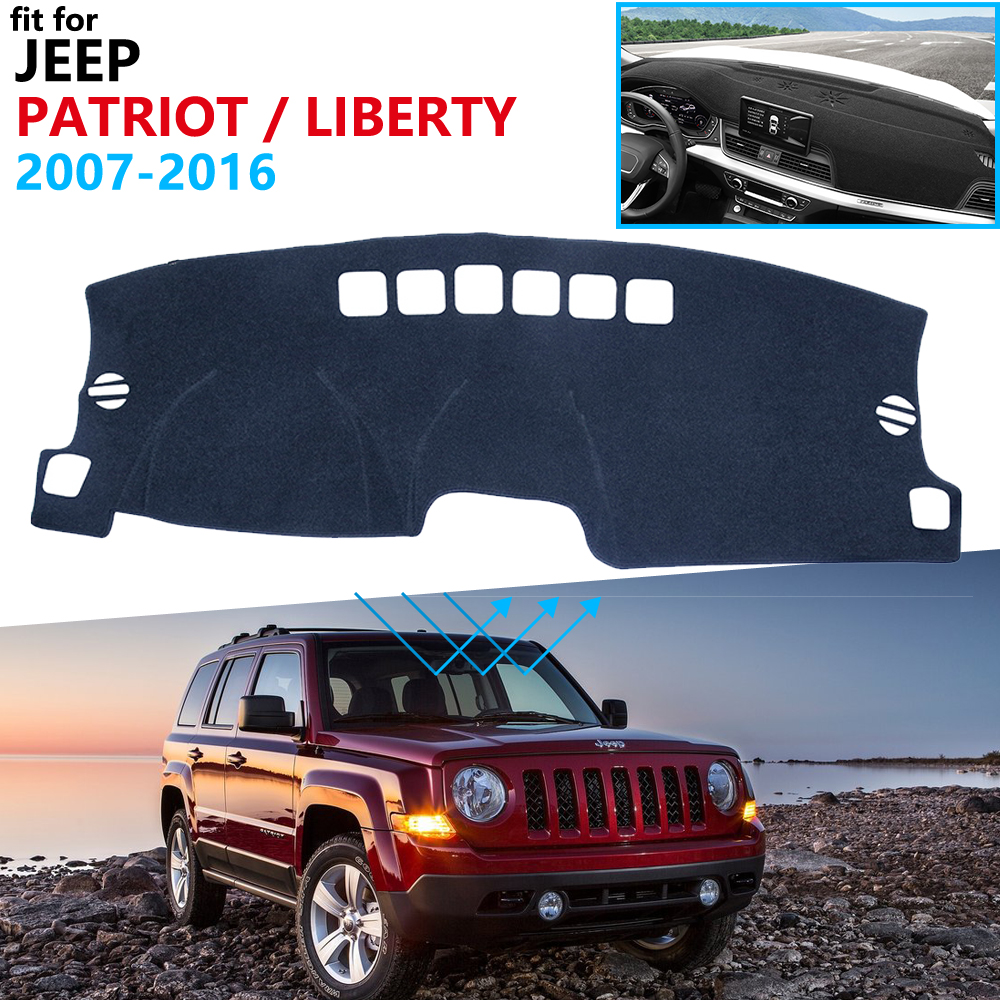 Dashboard Cover Protective Pad For Jeep Patriot 2007~2016 Liberty Car Accessories Dash Board Sunshade Carpet 2012 2013 2014 2015