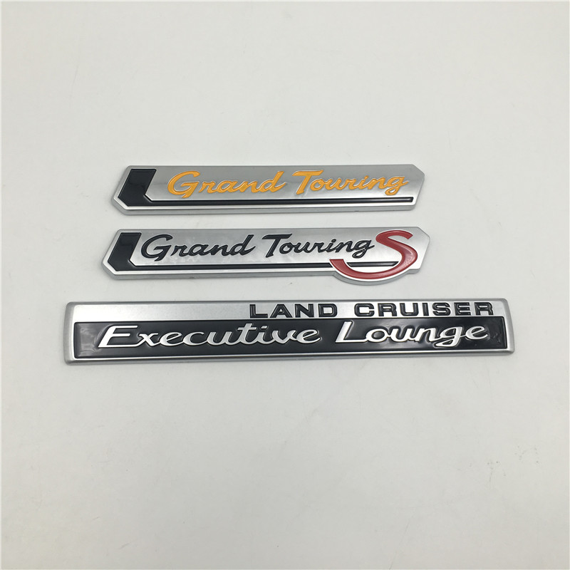 For Toyota Land Cruiser Executive Lounge Grand Touring <font><b>S</b></font> Rear Trunk Emblem Side Fender Logo <font><b>Stickers</b></font> image