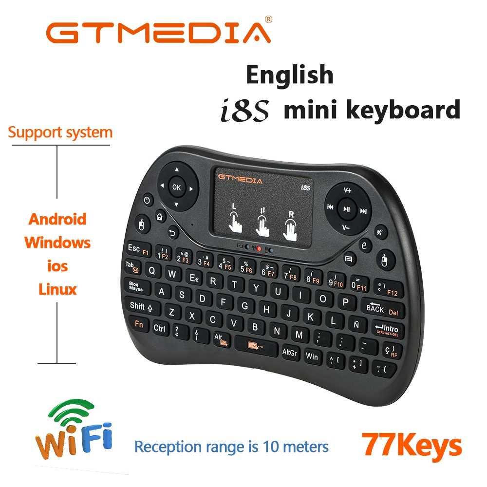 GTMEDIA I8 النسخة الإنجليزية 2.4GHz ماوس هوائي لوحة المفاتيح اللاسلكية مع لوحة اللمس المحمولة العمل مع تي في بوكس أندرويد جهاز كمبيوتر صغير صندوق التلفزيون G5