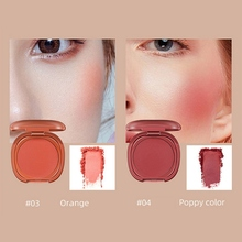 Cheek Face Blusher Single Color Blush Waterproof Brighten Skin Base Mineral Palette Makeup With Mirror