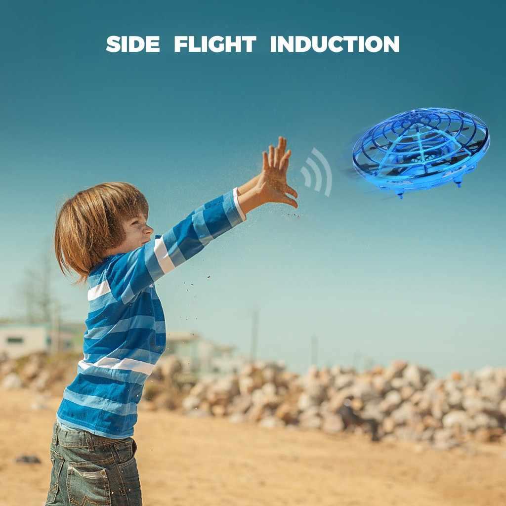 مستشعر مضاد للتصادم صغير تحريض اليد التي تسيطر عليها الارتفاع عقد الوضع Ufo الطائرة بدون طيار غريب الأشياء لعب للأطفال # p5