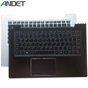 New Original US keyboard For Lenovo Ideapad U330 U330P Palmrest Cover UK Keyboard Top Upper Case Silver Black Big Enter Key