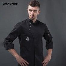 Uniforme de Chef à manches longues, uniforme de Chef cuisinier de Restaurant, manteau de Chef, vestes de serveur, uniforme professionnel, salopette