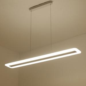 Image 5 - L40 120cm Modern Hanging Lamp for Kitchen Dinning Living Room led Pendant Lights Metal+acrylic Pendant Lamp Suspension Luminaire