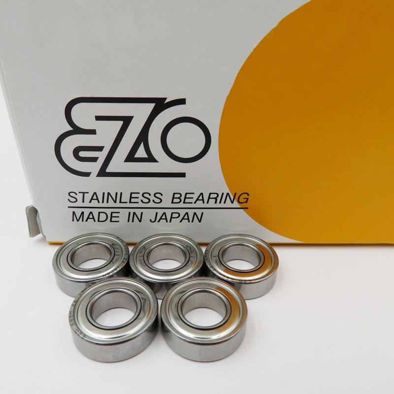 10 sztuk japonia EZO ze stali nierdzewnej kulka stalowa łożyska S683/684/685/686/687/688/689ZZ 3x7x3 4x9x4 5x11x5 6x13x5 7x14x5 8x16x5 9x17x5mm