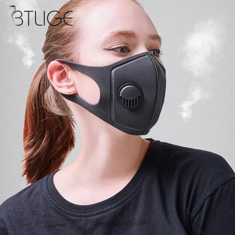 1pc Man Women Dust Mask Outdoor Riding Sunscreen Anti-fog Activated Carbon Mask Dust-proof Breathing Valve Sponge Mask