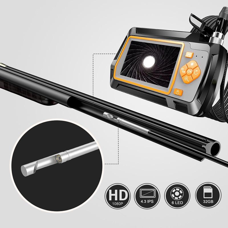 Новинка 3,9 мм ЖК-эндоскоп для чистки визуального осмотра камера 20 Калибр и увеличенная установочная трубка для охоты 4,3 дюйма 1080P