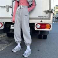 EACHIN Frauen Sport Kordelzug Jogging Hosen Winter Warm Lose Sportwear Hosen Weibliche Mode Casual Streetwear Cargo Hosen
