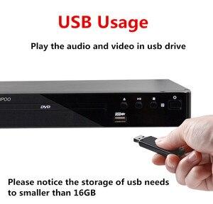 Image 5 - LONPOO הכי חדש נגן DVD נייד USB 2.0 DVD נגן מולטימדיה דיגיטלי DVD טלוויזיה תמיכה HDMI פונקציה שחור