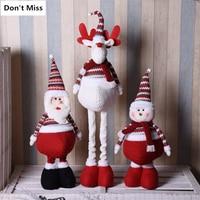 110cm Retractable Santa Claus Snowman Elk Christmas Dolls christmas tree decorations natal New Year Gift adornos de navidad
