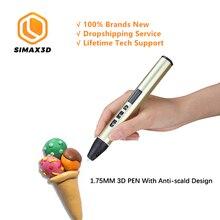 SIMAX3D hotend Bolígrafo De Impresora 3D, juguete creativo de inteligencia, grafiti estéreo, pluma de impresión 3D de baja temperatura, diseños de pinceles para niños