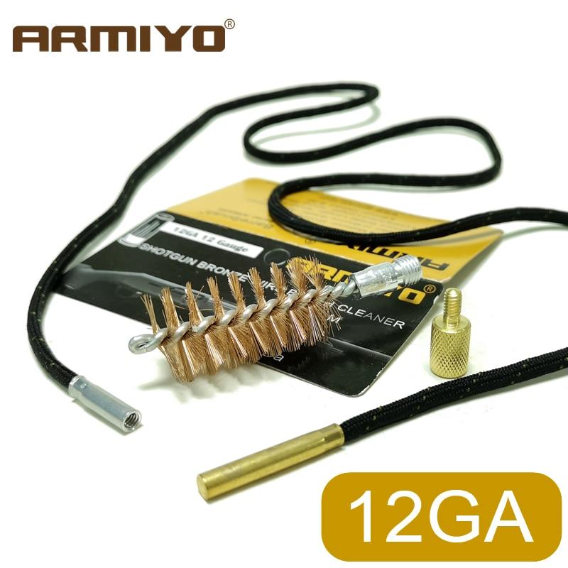 Armiyo 12GA 12 Gauge 18.5mm Gun Cleaning Brush Barrel Carbon Deposits Cleaner Hunting Accessories Thread 5/16