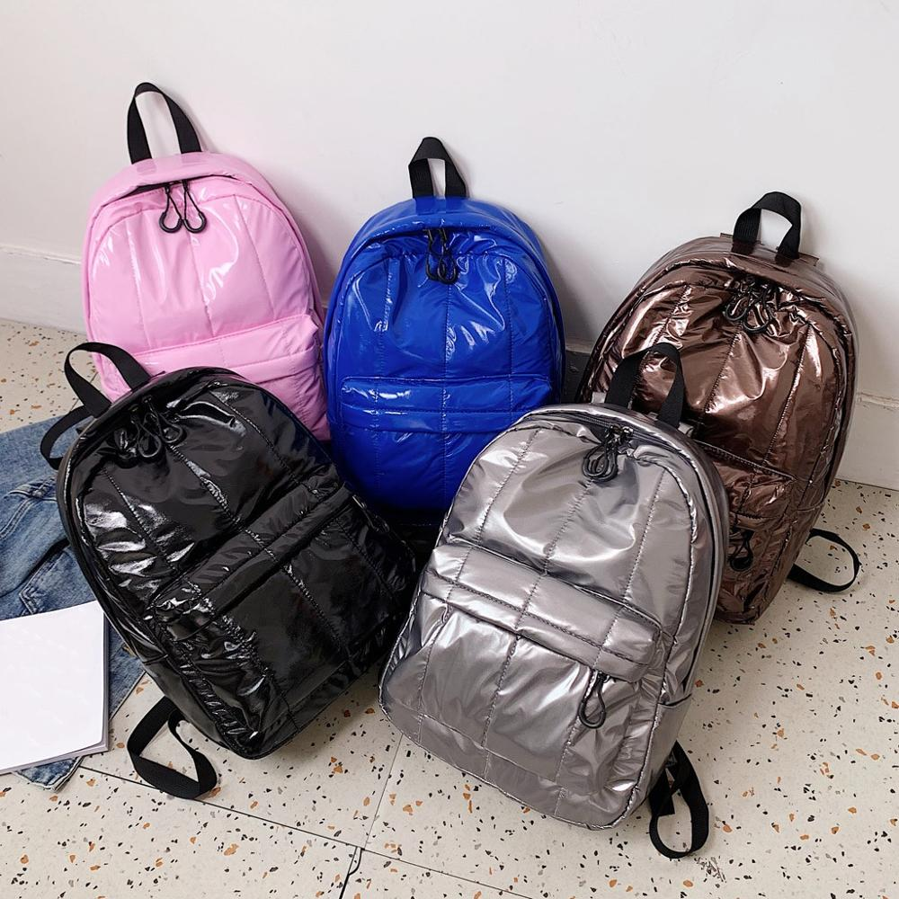Solid Color Waterproof Backpack For Teenagers Zipper Large Capacity  Fashion Backpack Waterproof Travel Bag School Rucksack #15