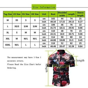 Oeak Men Summer Beach Hawaiian Shirt Short Sleeve M-3XL Floral Shirts Casual Holiday Vacation Clothing Camisas Asian size 2