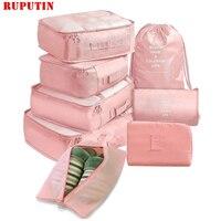 8-teiliges set Koffer Organisieren Lagerung Taschen Tragbare Kosmetik Taschen Hohe Qualität Reise Make-Up Tasche Kleidung Unterwäsche Schuhe Verpackung