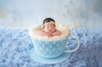 Creative new iron basket tea cup accessories newborn photography props infant studio shooting photo prop shower gift