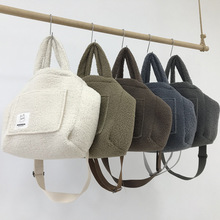 Large Capacity Lambswool Women Handbag Winter Plush Shoulder Bag Luxury Big Tote Bags for Women Designer Faux Fur Crossbody Bag