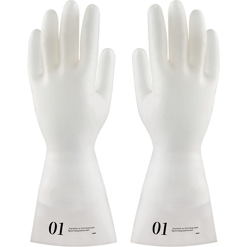 Kitchen Nitrile Gloves puncture prevention wear resistant wash vegetables and fruit dishes without hurting your hands M L in Household Gloves from Home Garden